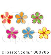 Clipart Colorful Flowers Royalty Free Vector Illustration