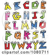 Clipart Colorful Alphabet Letters With Eyes Royalty Free Vector Illustration