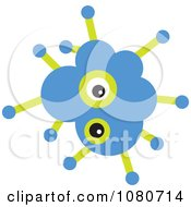 Clipart Blue Germ Doodle Royalty Free Vector Illustration