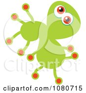 Clipart Green Germ Doodle Royalty Free Vector Illustration