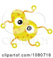 Clipart Yellow Germ Doodle Royalty Free Vector Illustration