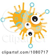 Clipart Orange Germ Doodle 1 Royalty Free Vector Illustration
