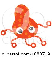 Clipart Orange Germ Doodle 2 Royalty Free Vector Illustration by Prawny