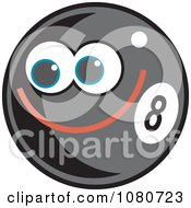 Clipart Happy Eight Ball Royalty Free Vector Illustration