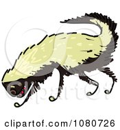 Clipart Grinning Honey Badger Royalty Free Vector Illustration by Prawny