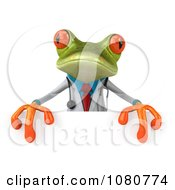 3d Doctor Springer Frog Holding A Sign 4