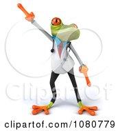 Clipart 3d Doctor Springer Frog Dancing 1 Royalty Free Illustration