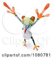 Clipart 3d Doctor Springer Frog Dancing 3 Royalty Free Illustration