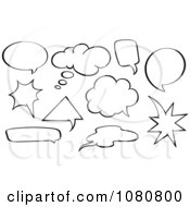 Clipart Outlined Conversation Balloons Royalty Free Vector Illustration by yayayoyo