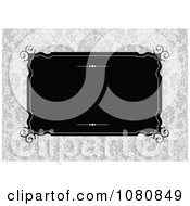 Clipart Black Frame Over A Damask Pattern Royalty Free Vector Illustration