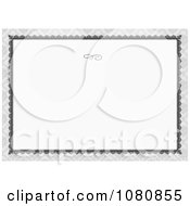 Clipart Gray Ornate Frame With Arrows And A Swirl With Copyspace Royalty Free Vector Illustration