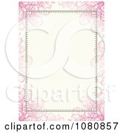 Clipart Pink Floral Frame With Copyspace Royalty Free Vector Illustration