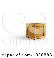 Clipart 3d Wooden Crate Royalty Free CGI Illustration