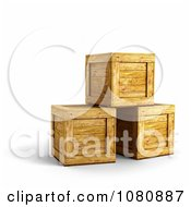 Clipart 3d Wooden Crates Stacked Royalty Free CGI Illustration