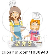Home Economics Teacher Baking Cookies With A Girl