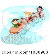 Stick Kids On A Roller Coaster Ride