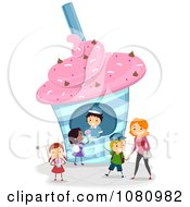 Clipart Stick People Buying Frozen Drinks Royalty Free Vector Illustration by BNP Design Studio
