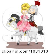 Knight And Princess On A Horse