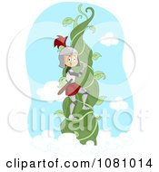 Clipart Knight Climbing A Beanstalk Vine Royalty Free Vector Illustration by BNP Design Studio