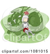 Clipart Knight Resting With A Dragon Royalty Free Vector Illustration by BNP Design Studio