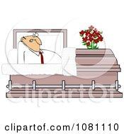 Clipart Shocked Man Rising In A Casket Royalty Free Vector Illustration by djart
