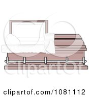 Clipart Empty Pink Burial Coffin Casket Royalty Free Vector Illustration by djart