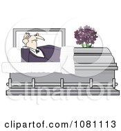 Clipart Vampire Rising In A Coffin Casket Royalty Free Vector Illustration by djart