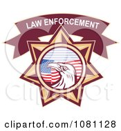 Clipart Law Enforcement Bald Eagle And American Flag Star Royalty Free Vector Illustration by patrimonio