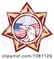Clipart Bald Eagle And American Flag Star Royalty Free Vector Illustration by patrimonio