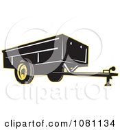 Clipart Black And Yellow Trailer Royalty Free Vector Illustration