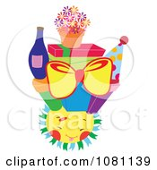 Clipart Presents And Party Items On A Happy Sun Royalty Free Vector Illustration by Cherie Reve