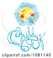 Clipart Sun Eating A Popsicle Over Chill Out Text Royalty Free Vector Illustration by Cherie Reve