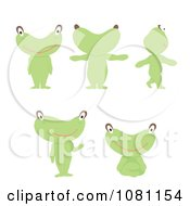 Green Alien In Different Poses