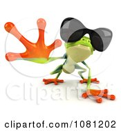 Clipart 3d Argie Frog Wearing Shades And Reaching Royalty Free CGI Illustration