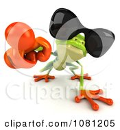 Clipart 3d Argie Frog Wearing Shades And Pointing Outwards Royalty Free CGI Illustration