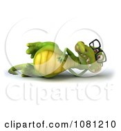 Clipart 3d Crocodile Wearing Glasses And Relaxing Royalty Free CGI Illustration