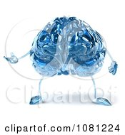Clipart 3d Blue Glass Brain Presenting Royalty Free CGI Illustration by Julos