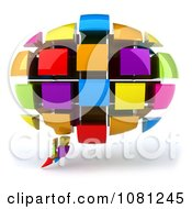 Clipart 3d Chat Balloon Made Of Colorful Cubes Royalty Free CGI Illustration by Julos