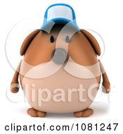 Clipart 3d Chubby Brown Dog Wearing A Hat Royalty Free CGI Illustration