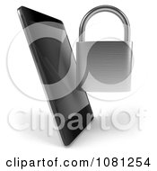 Clipart 3d Smart Phone With A Padlock Royalty Free CGI Illustration by Julos