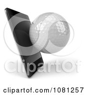 Clipart 3d Smart Phone With A Golf Ball Royalty Free CGI Illustration