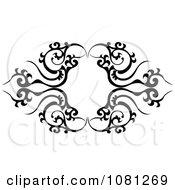 Black And White Tribal Frame Tattoo Design Element