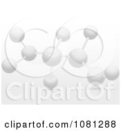 Clipart 3d White Molecular Structure With Shadows Royalty Free Vector Illustration by elaineitalia
