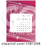 Clipart May 2012 Calendar Over Pink With Vines Royalty Free Vector Illustration