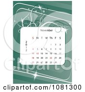 Clipart November 2012 Calendar Over Green With Vines Royalty Free Vector Illustration