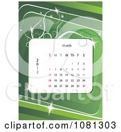 Clipart March 2012 Calendar Over Green With Vines Royalty Free Vector Illustration