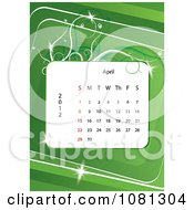 Clipart April 2012 Calendar Over Green With Vines Royalty Free Vector Illustration