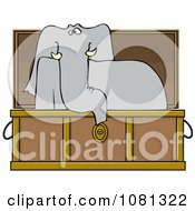 Elephant Rising In A Coffin