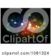 Clipart Colorful Sparkly Lights On Black Royalty Free Vector Illustration by dero