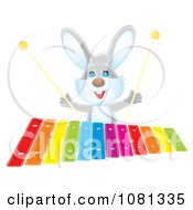 Rabbit Playing A Colorful Xylophone